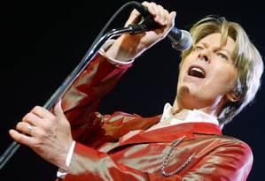 David Bowie na época do lançamento de seu disco mais recente, 'Reality', de 2002 Foto: AFP