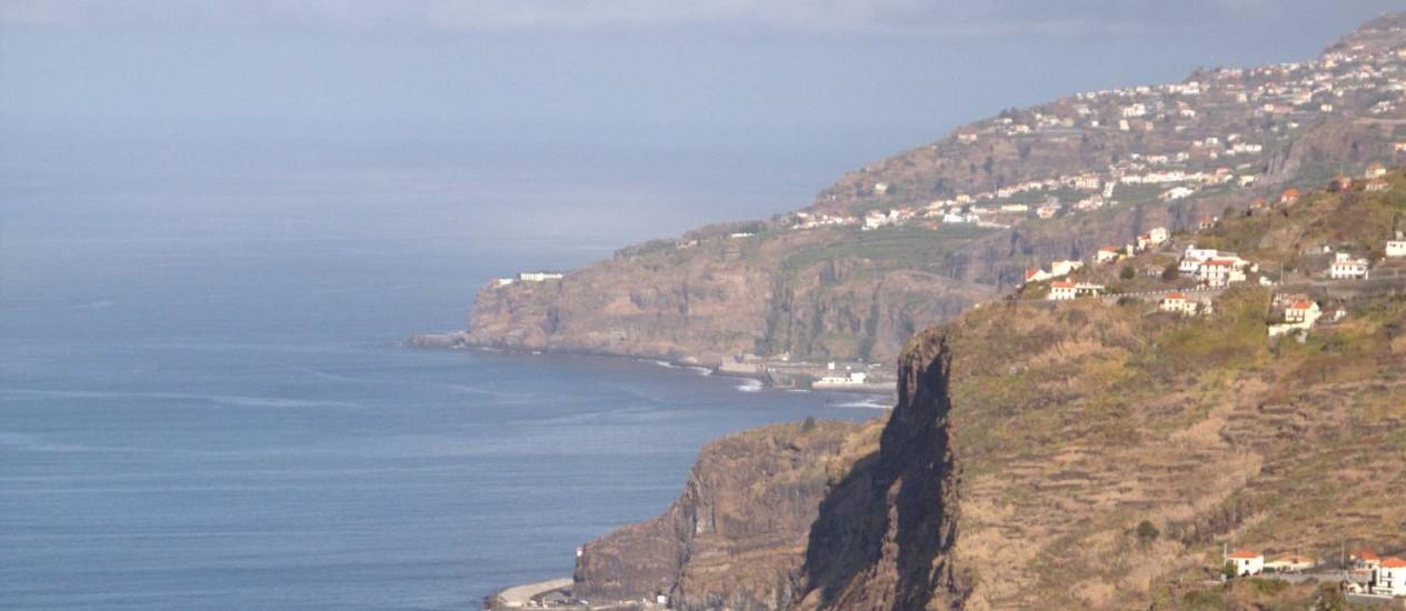 Vista aérea da Madeira, território português no Oceano Atlântico, a 500 km da costa do Marrocos Foto: Eduardo Vessoni