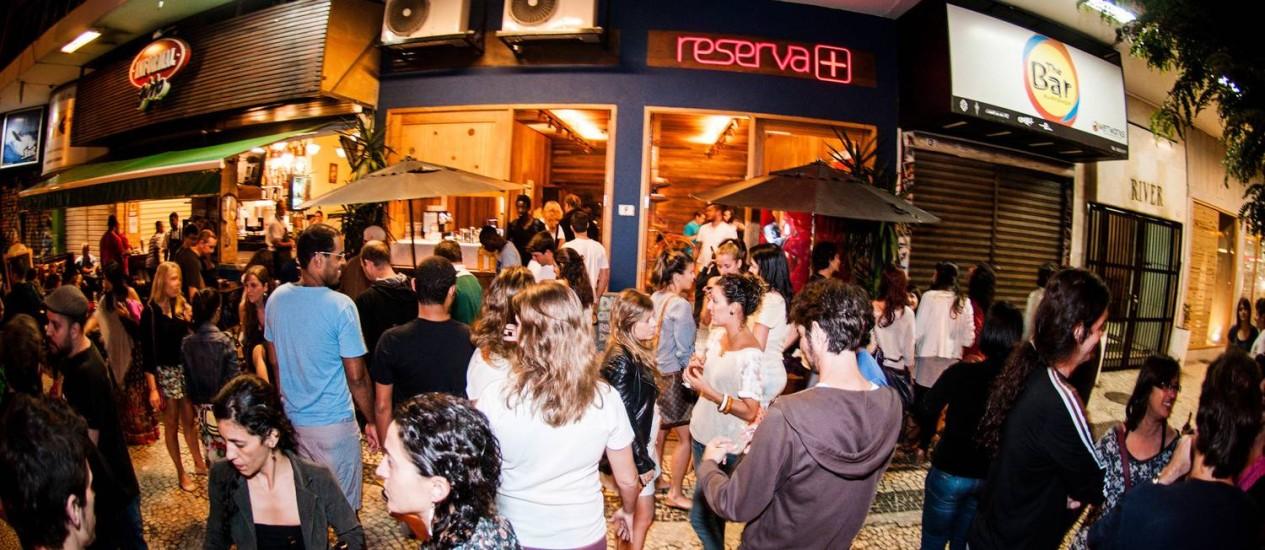 Festa gratuita na Reserva+, no Arpoador Foto: Divulgação