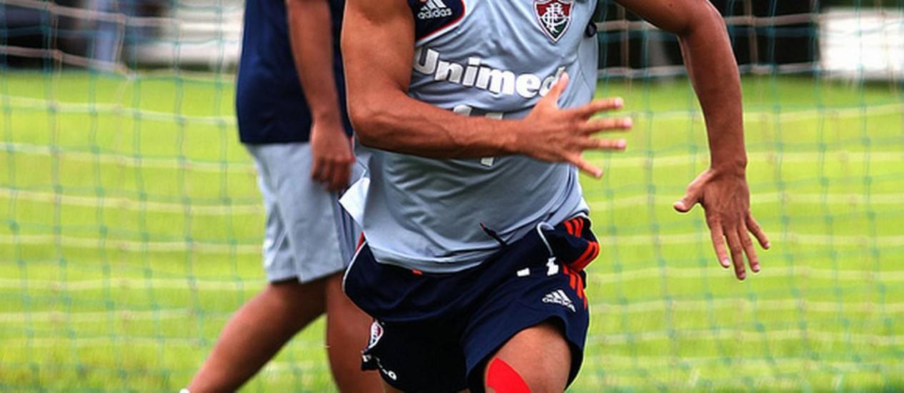 Wellington Nem em treino físico durante a pré-temporada do Fluminense, em Atibaia Foto: Divulgação / Nelson Perez