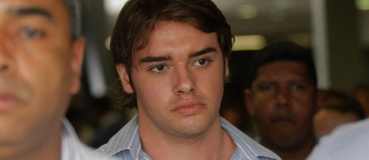 Thor Batista no Fórum de Caxias, onde, em setembro, prestou depoimento sobre o atropelamento do ciclista Foto: Fábio Guimarães/12-9-2012 / O Globo