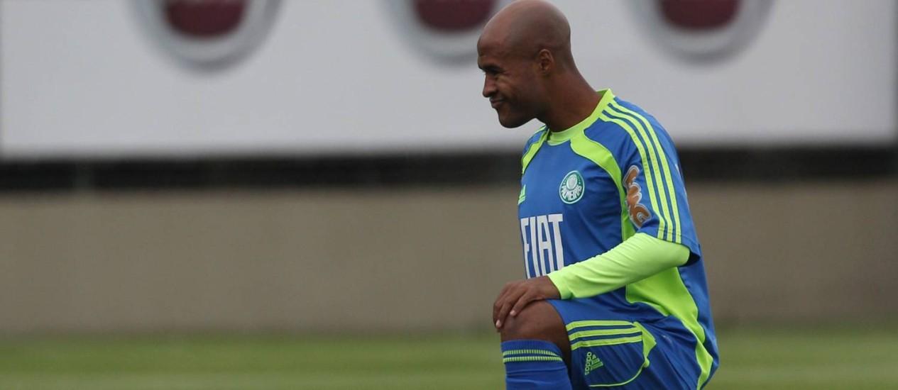 Marcos Assunção estava até o ano passado no Palmeiras. Agora ele vai jogar na Vila Belmiro Foto: Michel Filho / O Globo