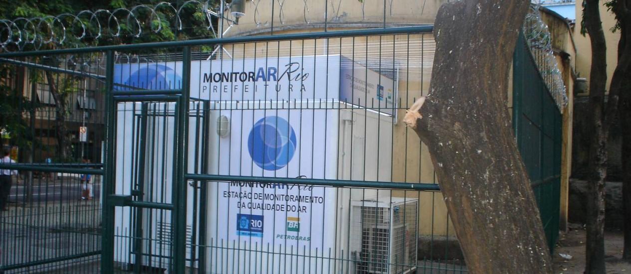 De olho no ar. A estação de monitoramento de Copacabana, a única da Zona Sul Foto: Divulgação/Secretaria municipal de Meio Ambiente