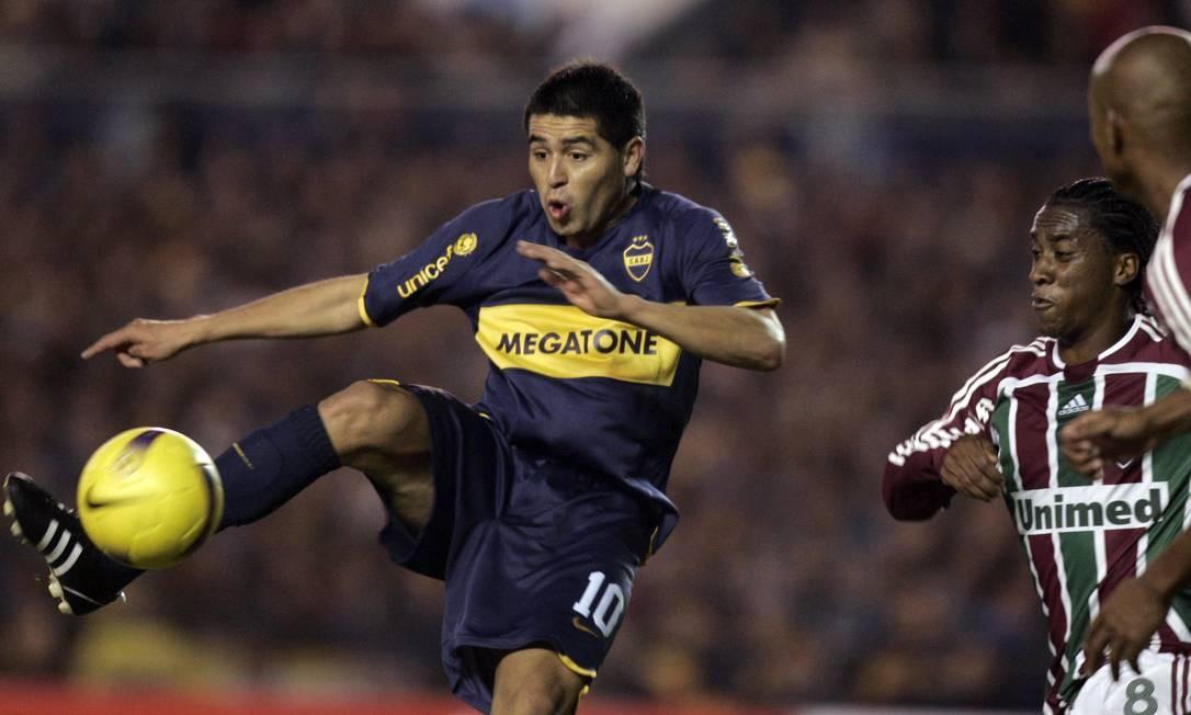O veterano Riquelme está de volta ao Boca Juniors, aos 34 anos e após quase oito meses parado Foto: Marcos Brindicci / Reuters