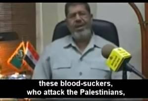Em vídeo de 2010, presidente egípcio insulta judeus e sionistas Foto: Divulgação / YouTube