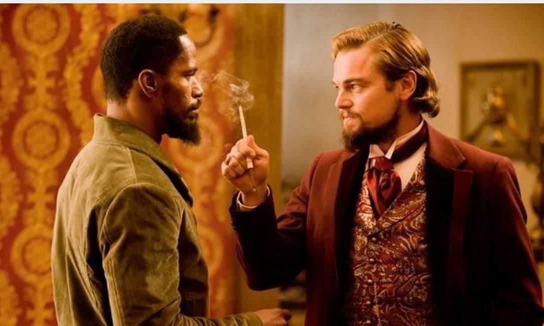 """Jamie Foxx contracena com Leonardo DiCaprio em em """"Django livre"""" Foto: Divulgação/IMDb"""