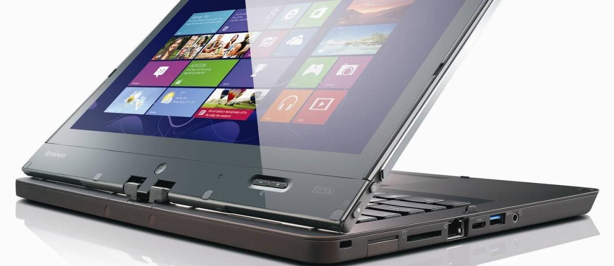 ThinkPad Twist, laptop com uma tela flexionável da Lenovo Foto: Divulgação