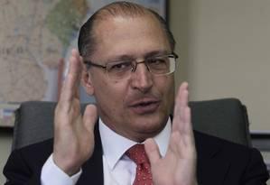 O governador de São Paulo, Geraldo Alckmin Foto: Marcos Alves / Agência O Globo
