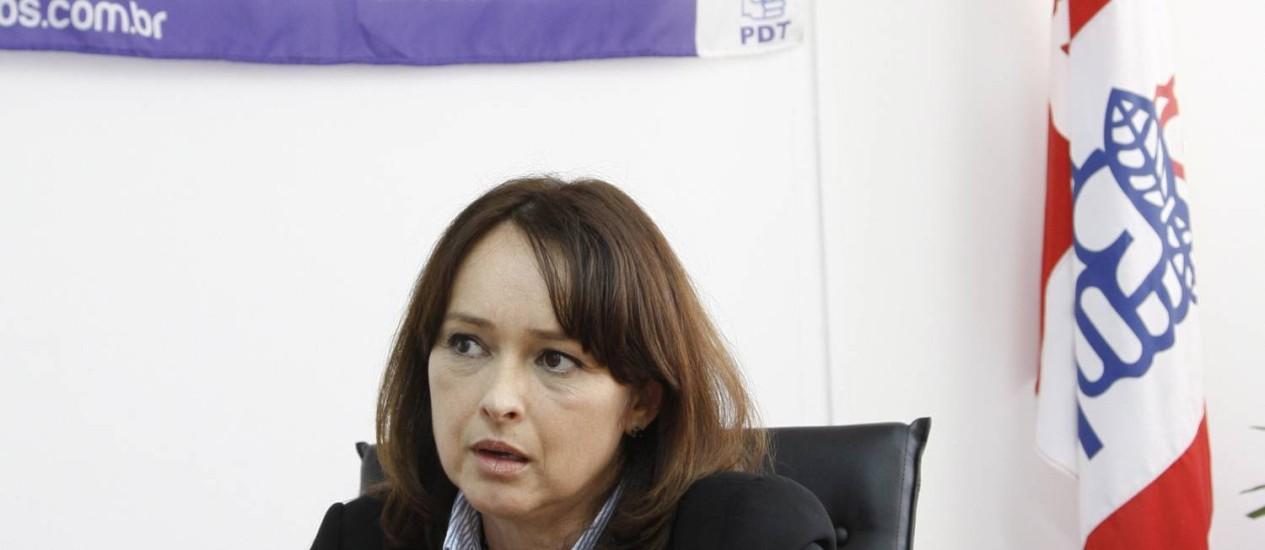 Deputada Myrian Rios, na Alerj Foto: Simone Marinho - 29.09.2011 / O Globo