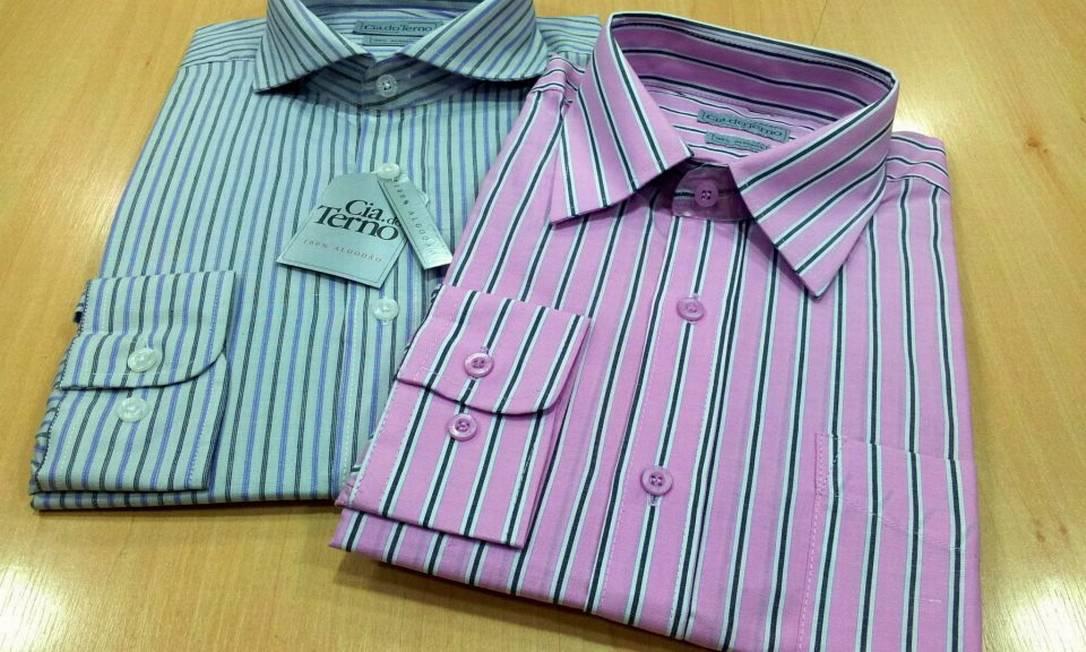 Na Cia do Terno, no São Gonçalo Shopping, camisa de algodão manga longa listrada baixou o preço: de R$ 48,80 por R$39,90 Divulgação