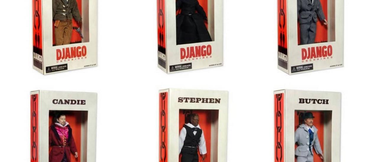 Bonecos inspirados em 'Django livre', de Quentin Tarantino Foto: Reprodução