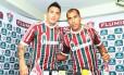 Monzón e Felipe são apresentados nas Laranjeiras