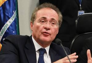 O senador Renan Calheiros (PMDB-AL): contratos com empresa ligada a uma funcionária sua Foto: Ailton de Freitas/11-12-2012