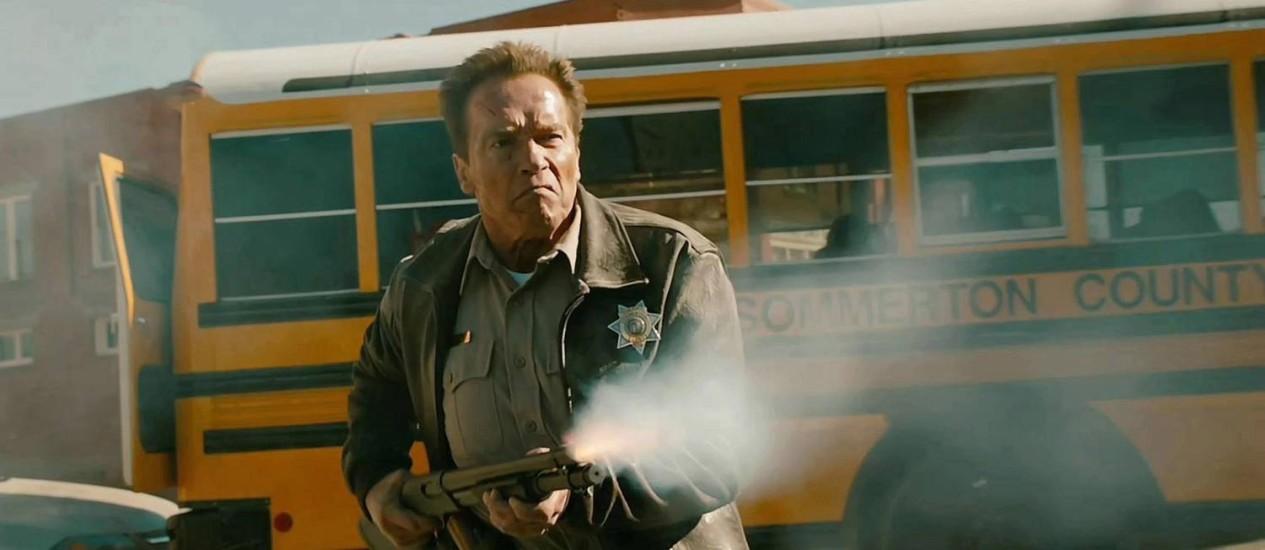 """Arnold Schwarzenegger em """"O último desafio"""" Foto: / Divulgação"""
