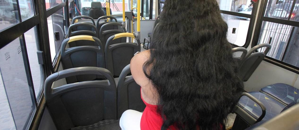 Uma mulher que, assim como na Índia, foi estuprada dentro de ônibus Foto: Hans von Manteuffel