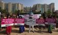 Mulheres indianas protestam contra violência sexual no país