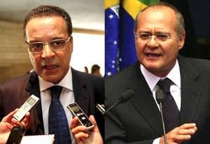 Henrique Eduardo Alves concorre à presidência da Câmara e Renan Calheiros disputa o comando do Senado