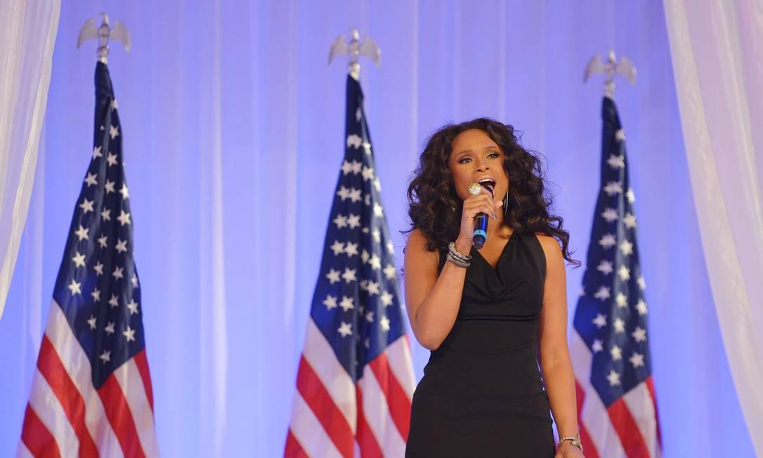 A cantora também Jennifer Hudson realizou uma performance durante a cerimônia MANDEL NGAN / AFP