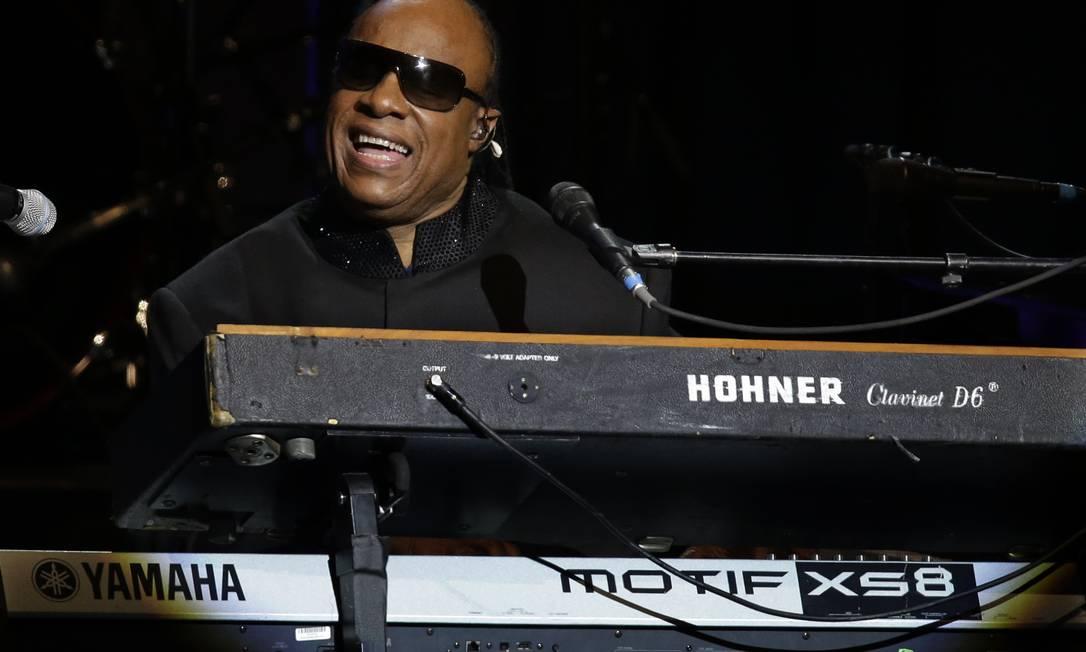 Stevie Wonder não podia faltar no baile inaugural do segundo mandato de Barack Obama Paul Sancya / AP