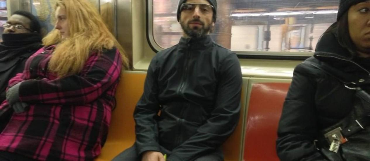O fundador da Google, Sergey Brin Foto: Reprodução do Twitter