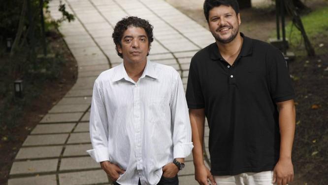 Arthur Maia, novo secretário municipal de cultura, e André Diniz, presidente da Fundação de Arte de Niterói: metas para os cem dias de governo Foto: Márcio Alves