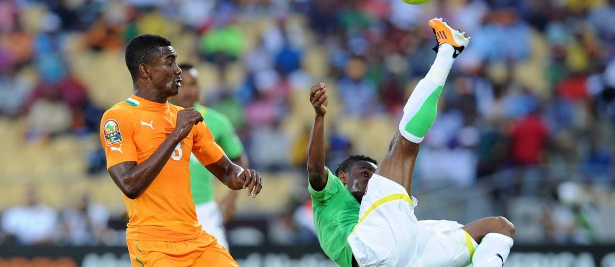 Costa do Marfim venceu Togo por 2 x1, na África do Sul Foto: Alexander Joe/ AFP