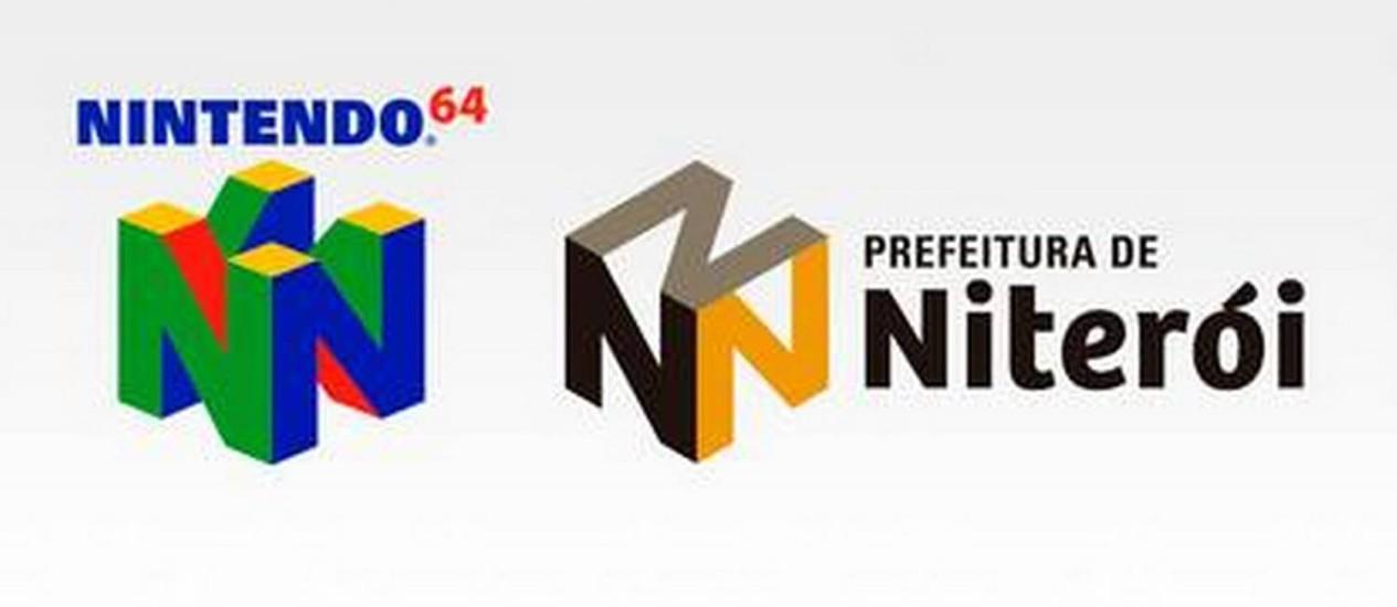 Logomarcas do Nintendo 64 e da prefeitura de Niterói Foto: Divulgação