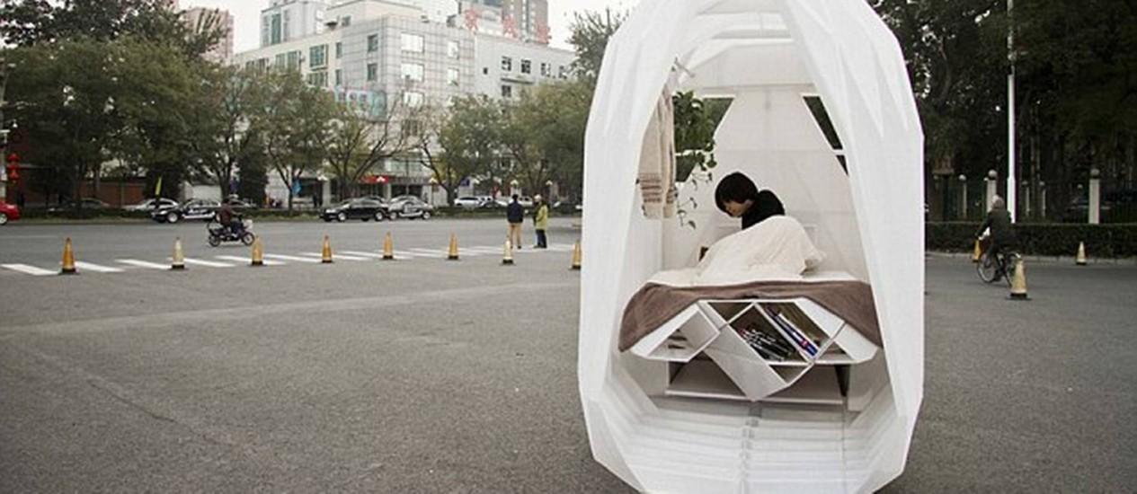 Residência de escritório Chinês pode circular pelas ruas sobre triciclo Foto: Reprodução internet/People's Architecture Office