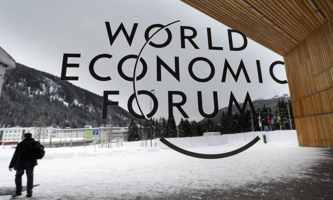 Entrada do centro de convenções do 43º Encontro Anual do Fórum Econômico Mundial, em Davos, na Suíça Foto: LAURENT GILLIERON / AP