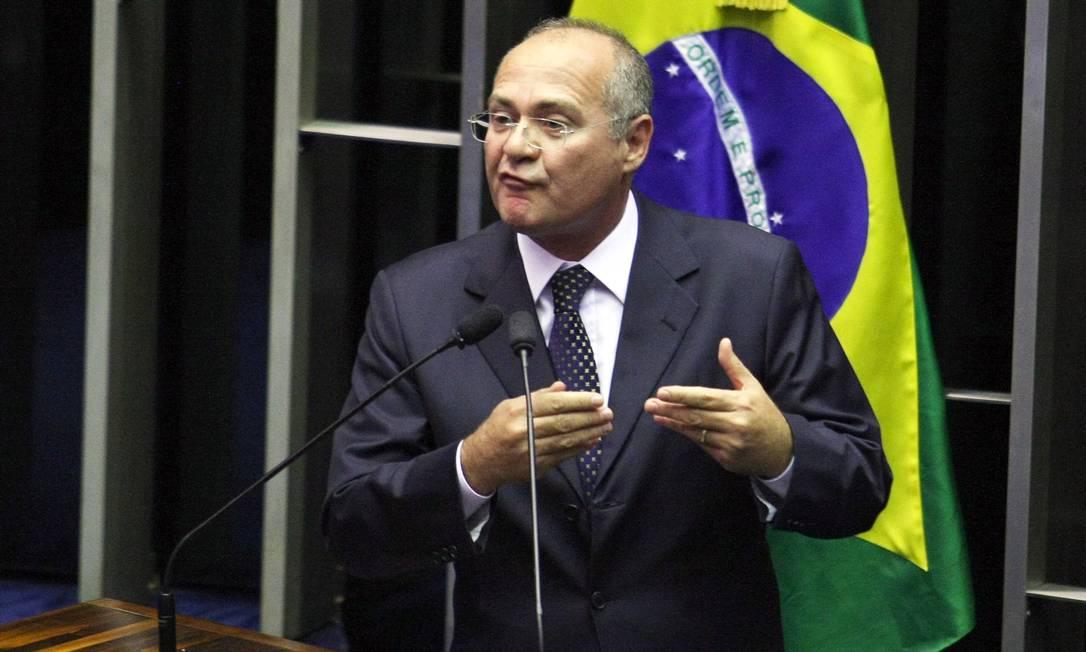 Renan Calheiros renunciou à presidência do Senado em 2007, após sofrer denúncias de corrupção Foto: Ailton de Freitas / O Globo / Arquivo: 11-03-2010