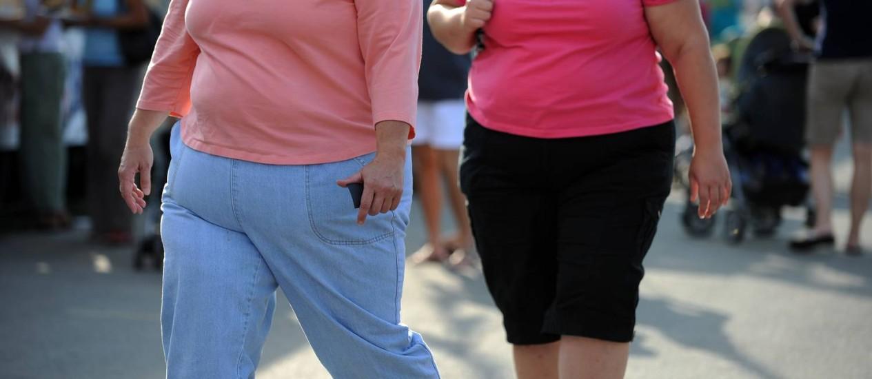 Duas mulheres caminham em Maryland, nos EUA Foto: TIM SLOAN / AFP