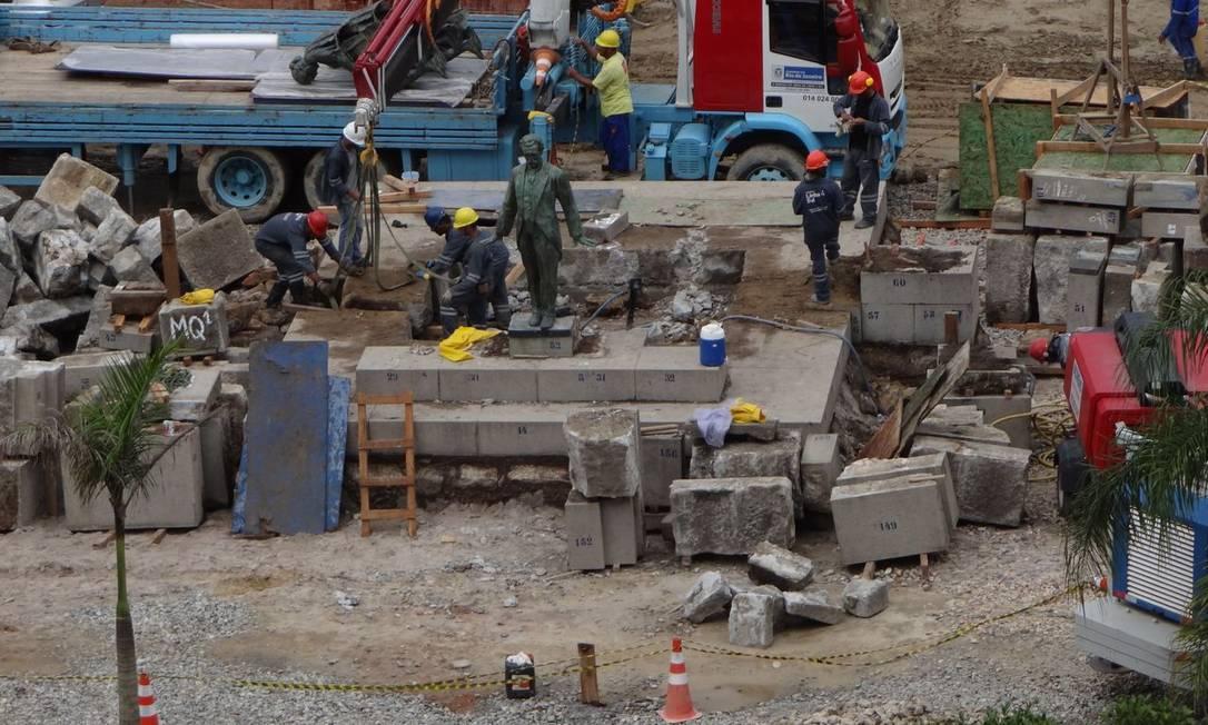 A Praça Nossa Senhora da Paz receberá umas das estações da Linha 4 do metrô Foto do leitor José Conde / Eu-Repórter