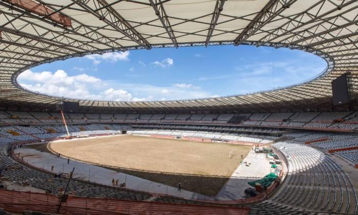 O Mineirão terá o seu primeiro jogo no dia 3 fevereiro. Será o clássico mineiro entre Cruzeiro e Atlético-MG Divulgação Portal da Copa