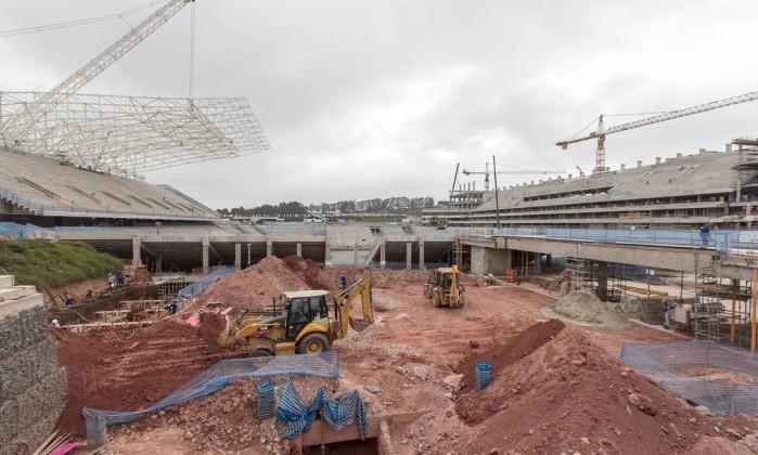 O Itaquerão, estádio que será do Corinthians, tem 60% das obras concluídas Divulgação Portal da Copa