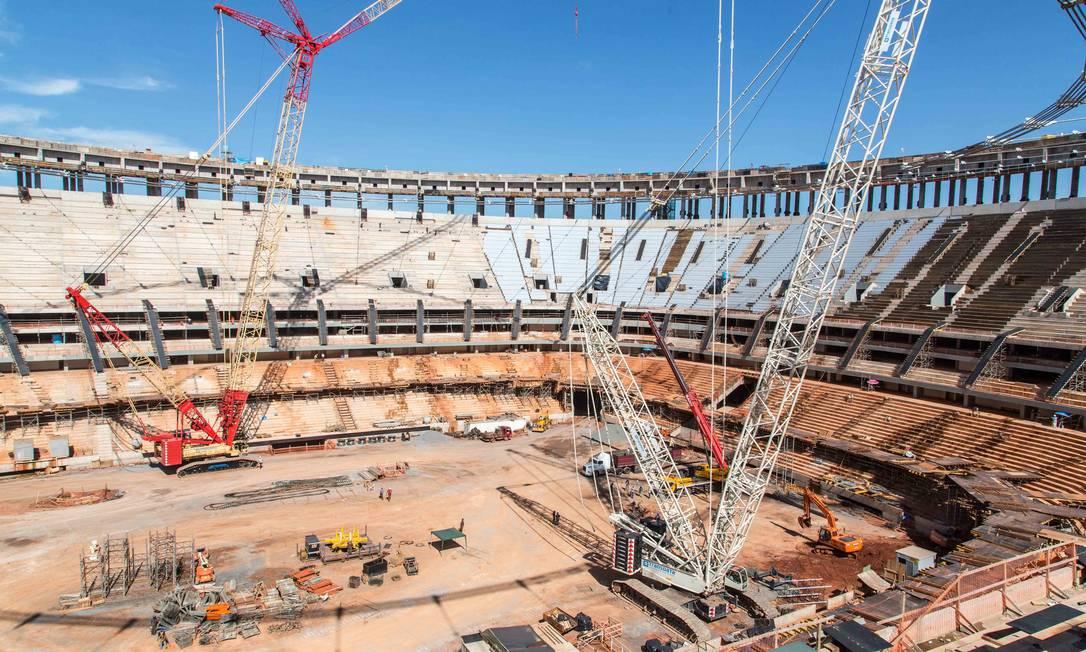 Cerca de 70 mil torcedores poderão assistir, no estádio Mané Garrincha, o primeiro jogo do Brasil na Copa das Confederações Divulgação Portal da Copa
