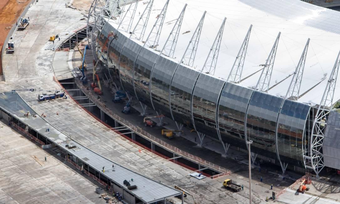 A inauguração oficial do Castelão foi com uma rodada dupla entre Ceará X Bahia e Fortaleza x Sport, neste domingo Divulgação Portal da Copa