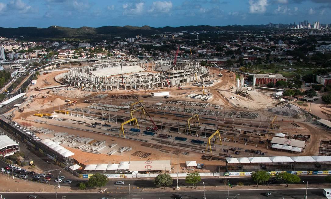 A Arena Dunas, em Natal, tem apenas 50% das obras concluídas Divulgação Portal da Copa