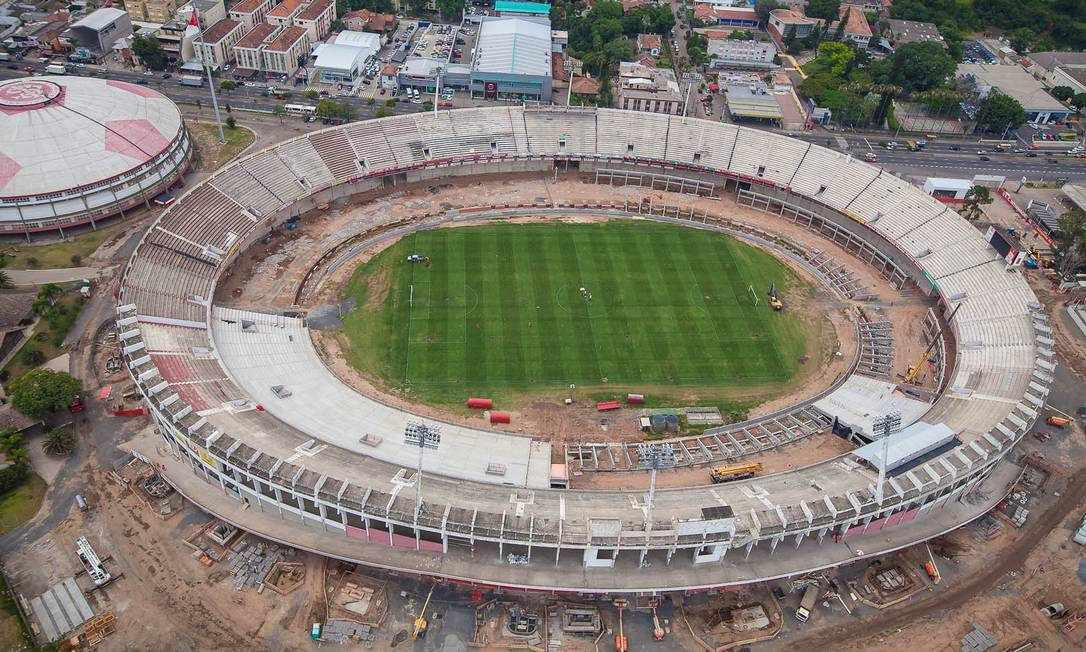 O estádio de Porto Alegre está sendo adaptado para a Copa da Mundo e passará a receber 52 mil torcedores Divulgação Portal da Copa