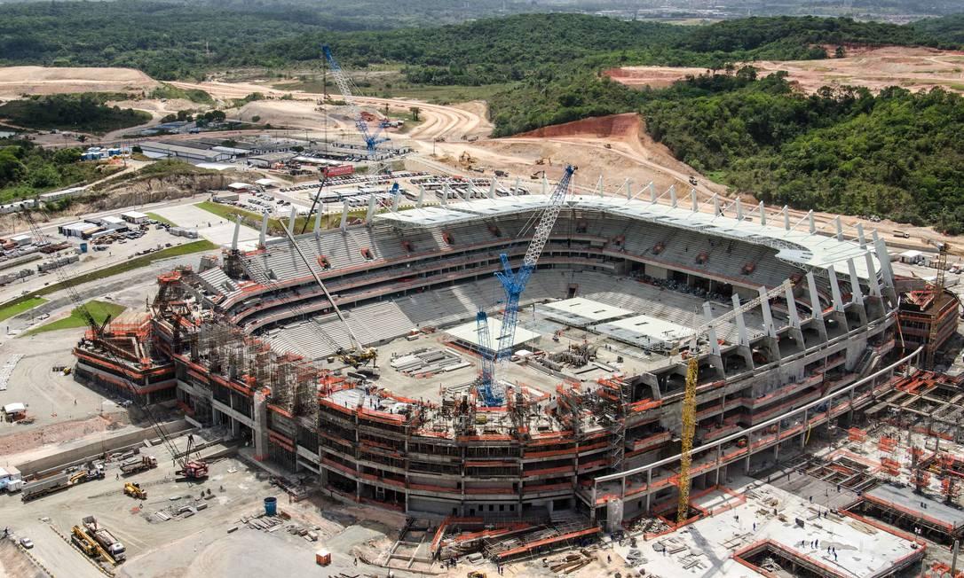 A Arena Pernambuco está com 83,6% das obras concluídas. Sua reforma custou R$ 500 milhões Divulgação Portal da Copa