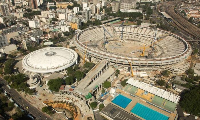 O Maracanã, que será palco das finais da Copa do Mundo e da Copa das Confederações, está com 80% pronto. Desde dezembro, o avanço foi de apenas 1% Divulgação Portal da Copa