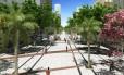 Sem carros. Croqui do futuro Boulevard Rio Branco: projeto da prefeitura prevê que, em 2016, trecho da avenida entre Nilo Peçanha e a Santa Luzia será transformado em rua de pedestres