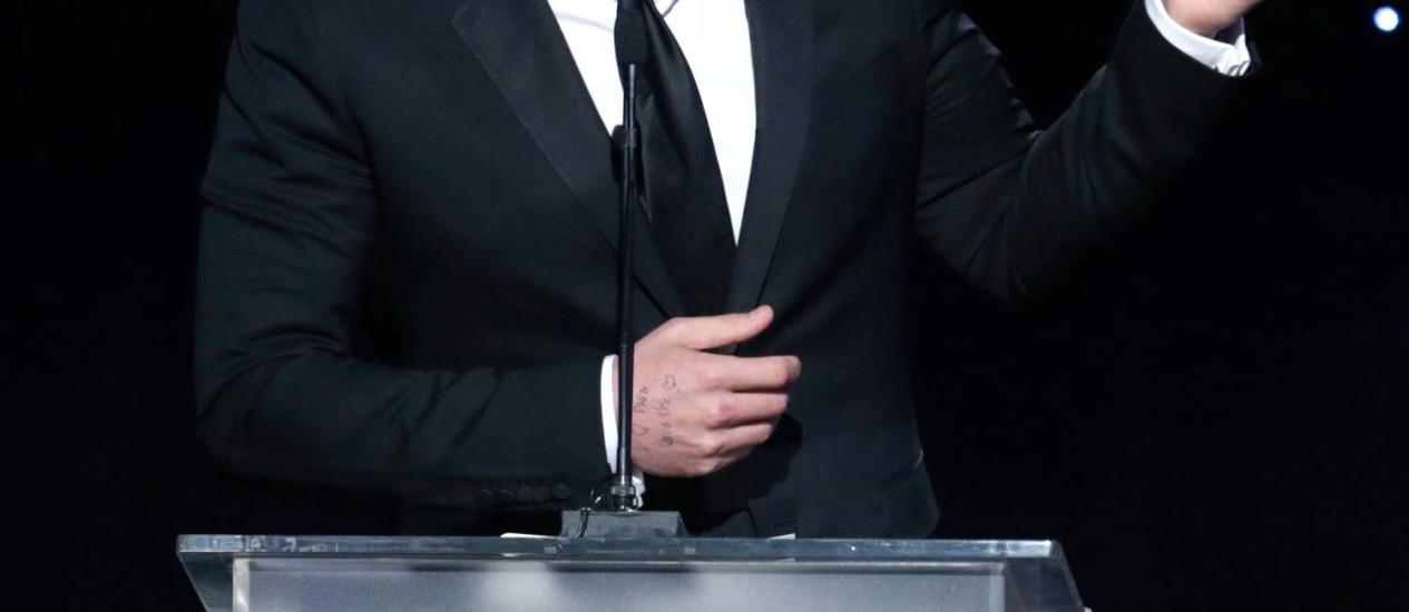 Ben Affleck agradece o prêmio de melhor filme para 'Argo' no Producers Guild Awards, realizado ontem em Los Angeles Foto: Todd Williamson / Invision for The Producers Guild