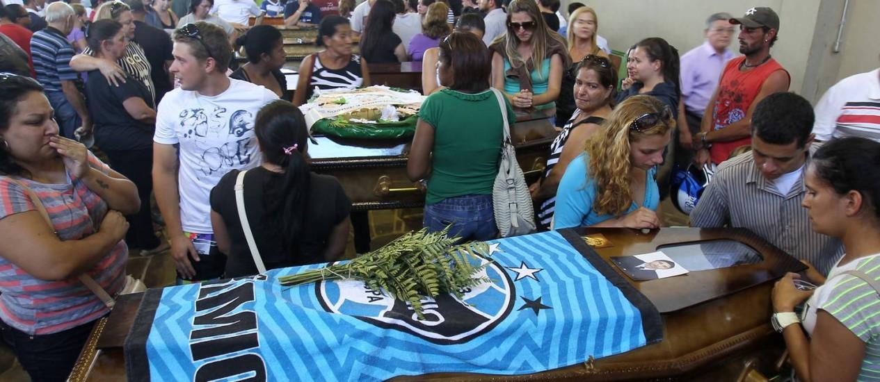 Ginásio em Santa Maria, no Rio Grande do Sul Foto: Nabor Goulart / AP