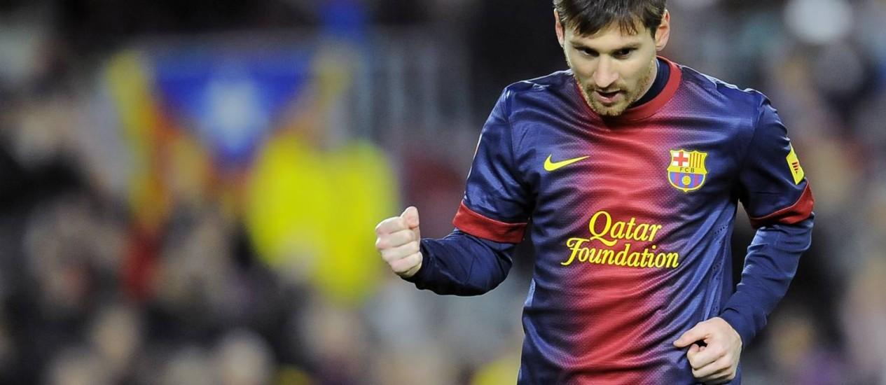 Messi disse que quer ganhar todos os títulos que disputar em 2013 Foto: Alvaro Barrientos / AP