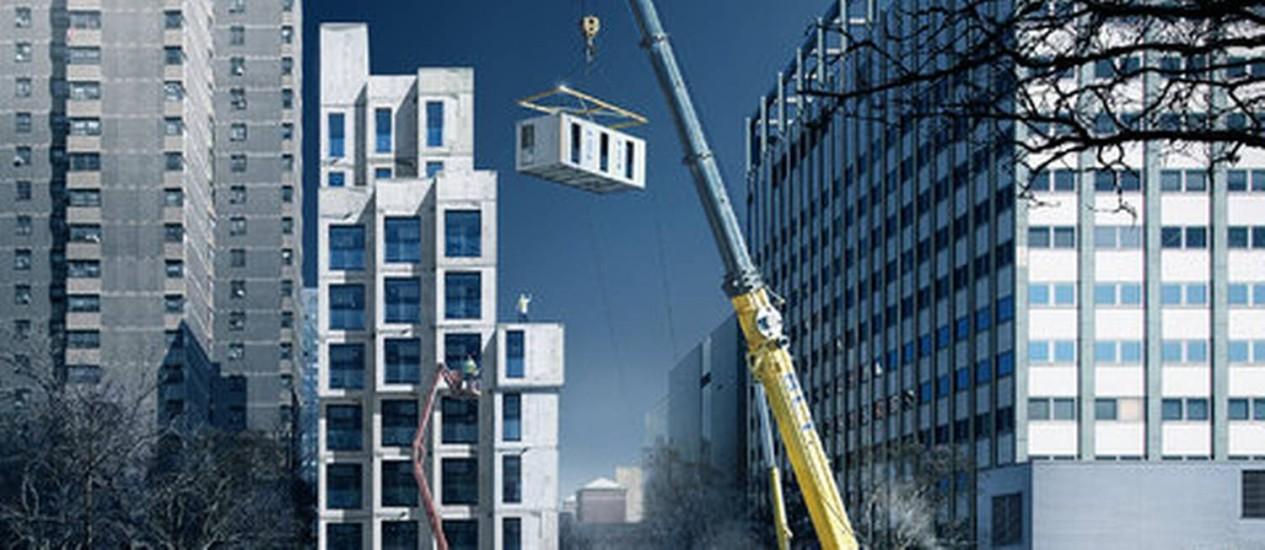 Projeto vencedor do concurso adAPT NYC terá 55 apartamentos de tamanho reduzido Foto: The New York Times