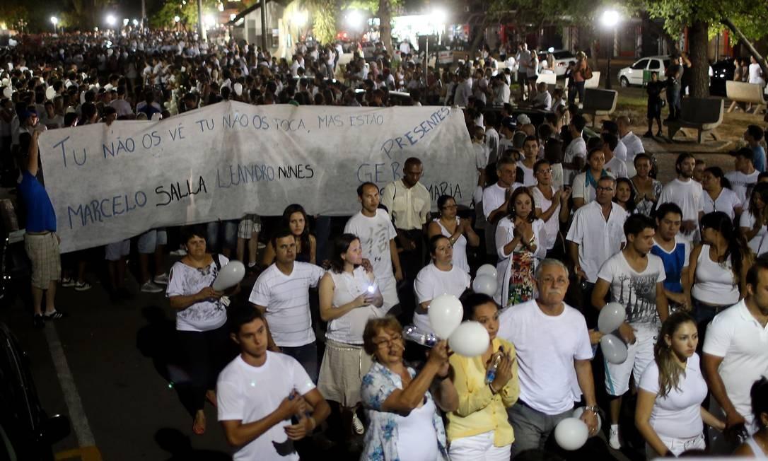 Indignação, revolta e dor Foto: JEFFERSON BERNARDES / AFP