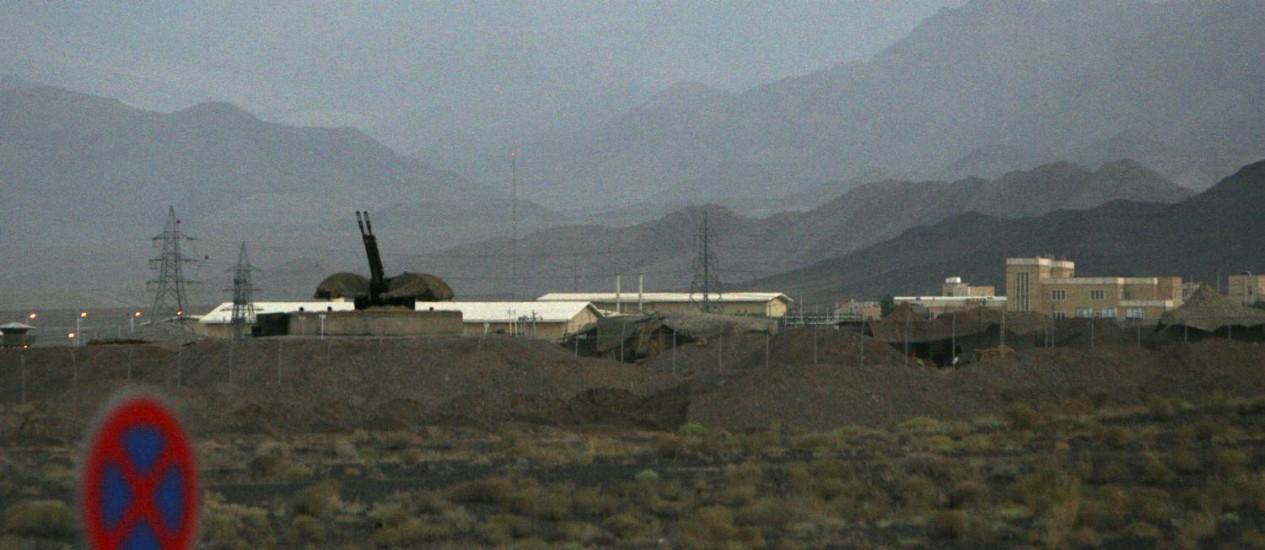 Usina nuclear de Natanz, no Irã Foto: Hasan Sarbakhshian / AP