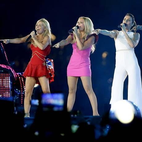 As Spice Girls na cerimônia de encerramento das Olimpíadas de Londres, em 2012 Foto: AP Photo / Kristy Wigglesworth