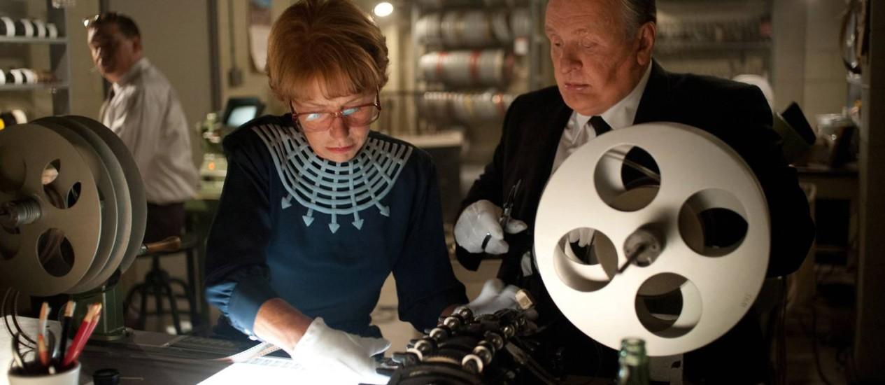 Helen Mirren e Anthony Hopkins numa cena de 'Hitchcock' Foto: Terceiro / Divulgação