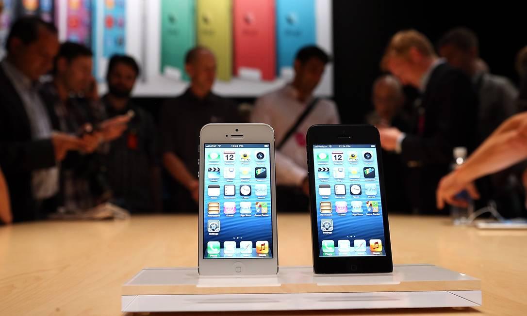 Marca não poderá ser usada pela Apple para nenhum tipo de produto relacionado à telefonia celular Foto: JUSTIN SULLIVAN / AFP